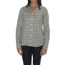 Barbour Cotton Shirt - Long Sleeve (For Women) in Olive Check, Crofters - Closeouts