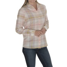Barbour Cotton Shirt - Long Sleeve (For Women) in Pink Check, Silverdale - Closeouts