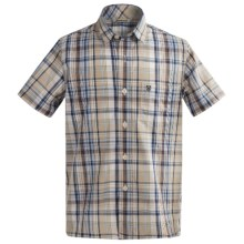 Barbour Cotton Shirt - Short Sleeve (For Boys) in Blue Check, Longbrook - Closeouts