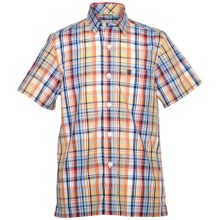 Barbour Cotton Shirt - Short Sleeve (For Boys) in Red Check, Longbrook - Closeouts