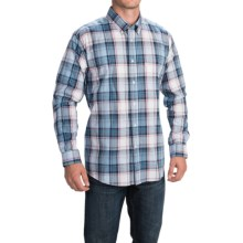 Barbour Cotton Shirt Single-Pocket Shirt - Long Sleeve (For Men) in Navy, Wentwood - Closeouts