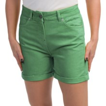 Barbour Cotton Shorts (For Women) in Linden Green, Sherperdine, Twill - Closeouts