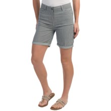 Barbour Cotton Shorts (For Women) in Navy/White, Winterton, Twill - Closeouts