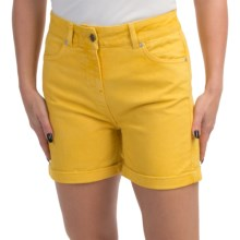 Barbour Cotton Shorts (For Women) in Yellow, Sherperdine, Twill - Closeouts