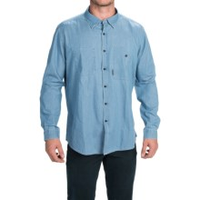 Barbour Cotton Sport Shirt - Button Front, Long Sleeve (For Men) in Bleached Indigo, Fergus, Slim Fit - Closeouts