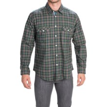 Barbour Cotton Sport Shirt - Button Front, Long Sleeve (For Men) in Green, Root - Closeouts