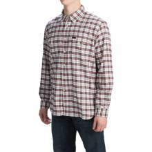 Barbour Cotton Sport Shirt - Button Front, Long Sleeve (For Men) in Merlot, Hike - Closeouts