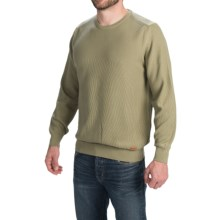 Barbour Cotton Sweater - Crew Neck (For Men) in Bleached Olive, Aberdare - Closeouts