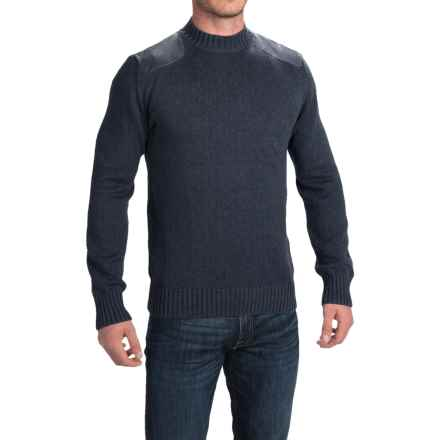 Barbour Cotton Sweater - Crew Neck (For Men) in Navy, Hook - Closeouts