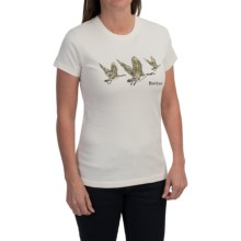 Barbour Cotton T-Shirt - Crew Neck, Short Sleeve (For Women) in Cream, Flying Geese - Closeouts