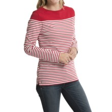 Barbour Cotton T-Shirt - Long Sleeve (For Women) in Chilli Red, Staithes - Closeouts