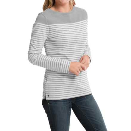 Barbour Cotton T-Shirt - Long Sleeve (For Women) in Silver Ice, Staithes - Closeouts