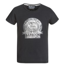 Barbour Cotton T-Shirt - Short Sleeve (For Girls) in Black, Derney - Closeouts