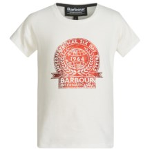 Barbour Cotton T-Shirt - Short Sleeve (For Girls) in Snow, Derney - Closeouts