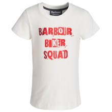 Barbour Cotton T-Shirt - Short Sleeve (For Girls) in Snow, Squad - Closeouts