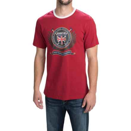 Barbour Cotton T-Shirt - Short Sleeve (For Men) in Chilli Red, Polo Crest - Closeouts