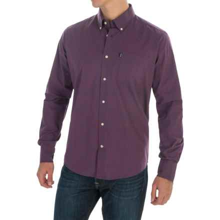 Barbour Country Gingham Shirt - Long Sleeve (For Men) in Crimson - Closeouts