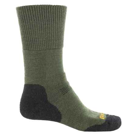 Barbour Cragg Boot Socks - Crew (For Men) in Olive - Closeouts
