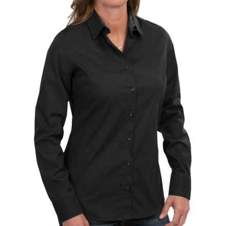 Barbour Cramlington Cotton Shirt - Long Sleeve (For Women) in Black - Closeouts