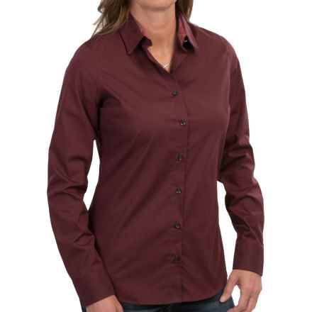 Barbour Cramlington Cotton Shirt - Long Sleeve (For Women) in Dark Rosewood - Closeouts