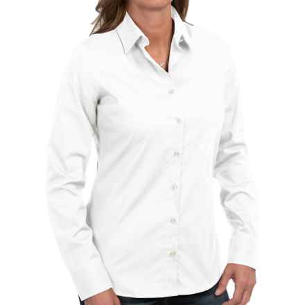 Barbour Cramlington Cotton Shirt - Long Sleeve (For Women) in White - Closeouts