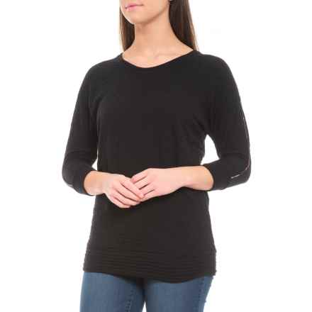 Barbour Danna Shirt - 3/4 Sleeve (For Women) in Black - Closeouts