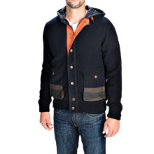 Barbour Dept. B Stenner Hoodie - Wool, Insulated (For Men) in Navy - Closeouts