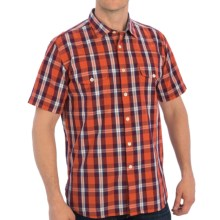 Barbour Desert Check Shirt - Spread Collar, Short Sleeve (For Men) in Burnt Orange - Closeouts