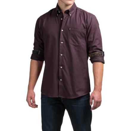 Barbour Don Shirt - Tailored Fit, Long Sleeve (For Men) in Merlot - Closeouts