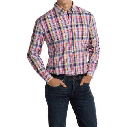 Barbour Douglas Cotton Shirt - Long Sleeve (For Men) in Candy Check - Closeouts