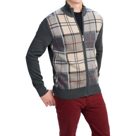 Image of Barbour Downfield Zip Cardigan Sweater (For Men)