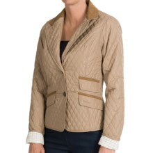 Barbour Downham Quilted Cropped Jacket (For Women) in Sandstone - Closeouts