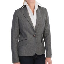 Barbour Eglington Classic Country Tweed Blazer (For Women) in Black - Closeouts