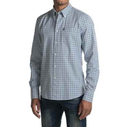 Barbour Elwood Shirt - Long Sleeve (For Men) in Blue - Closeouts