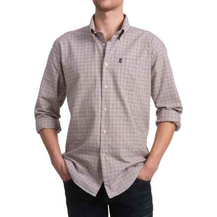 Barbour Elwood Shirt - Long Sleeve (For Men) in Crimson - Closeouts