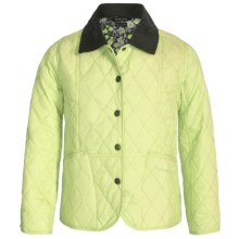 Barbour Elysia Diamond-Quilted Jacket (For Girls) in Sweet Pea - Closeouts