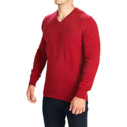 Barbour Essential Lambswool Sweater - V-Neck (For Men) in Rich Red - Closeouts