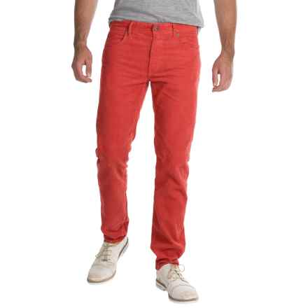 Barbour Essential Skinny Corduroy Pants (For Men) in Ruby - Closeouts