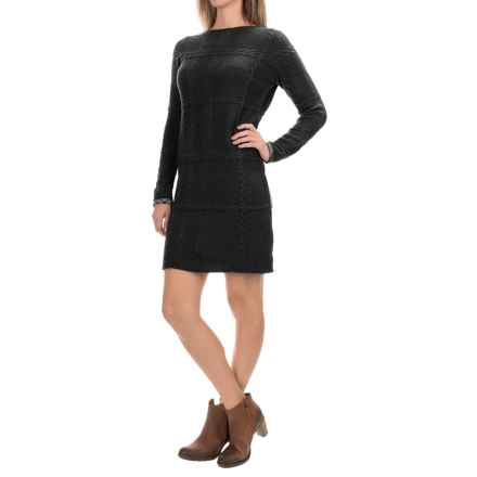 Barbour Etal Sweater Dress - Wool, Long Sleeve (For Women) in Black - Closeouts