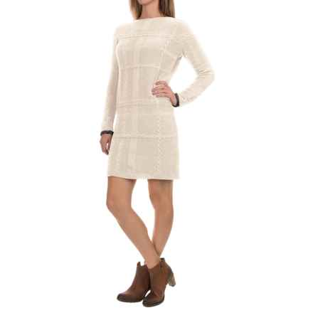 Barbour Etal Sweater Dress - Wool, Long Sleeve (For Women) in Vanilla - Closeouts