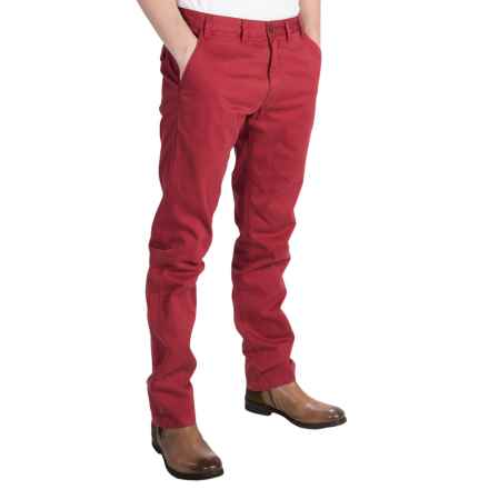 Barbour Euston Garment-Dyed Trousers (For Men) in Chilli Red - Closeouts