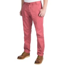 Barbour Euston Garment-Dyed Trousers (For Men) in Pink - Closeouts