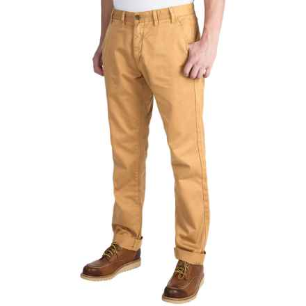 Barbour Euston Garment-Dyed Trousers (For Men) in Yellow - Closeouts