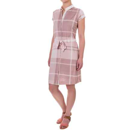 Barbour Ewan Dress - Short Sleeve (For Women) in Ice Rose - Closeouts