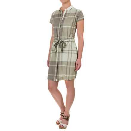 Barbour Ewan Dress - Short Sleeve (For Women) in Laurel Green - Closeouts