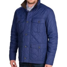 Barbour Explorer Diamond Quilted Jacket (For Men) in Mid Blue - Closeouts