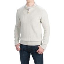Barbour Falcon Cotton Sweater - Button Neck (For Men) in Pearl Marl, Falcon - Closeouts
