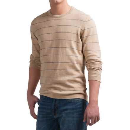 Barbour Falkirk Sweater - Cotton-Cashmere (For Men) in Stone - Closeouts