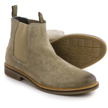 Barbour Farsley Suede Chelsea Boots (For Men) in Stone - Closeouts