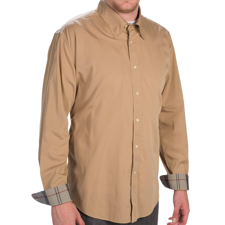Barbour fedderdale shirt for men save 86 for Hidden button down collar shirts